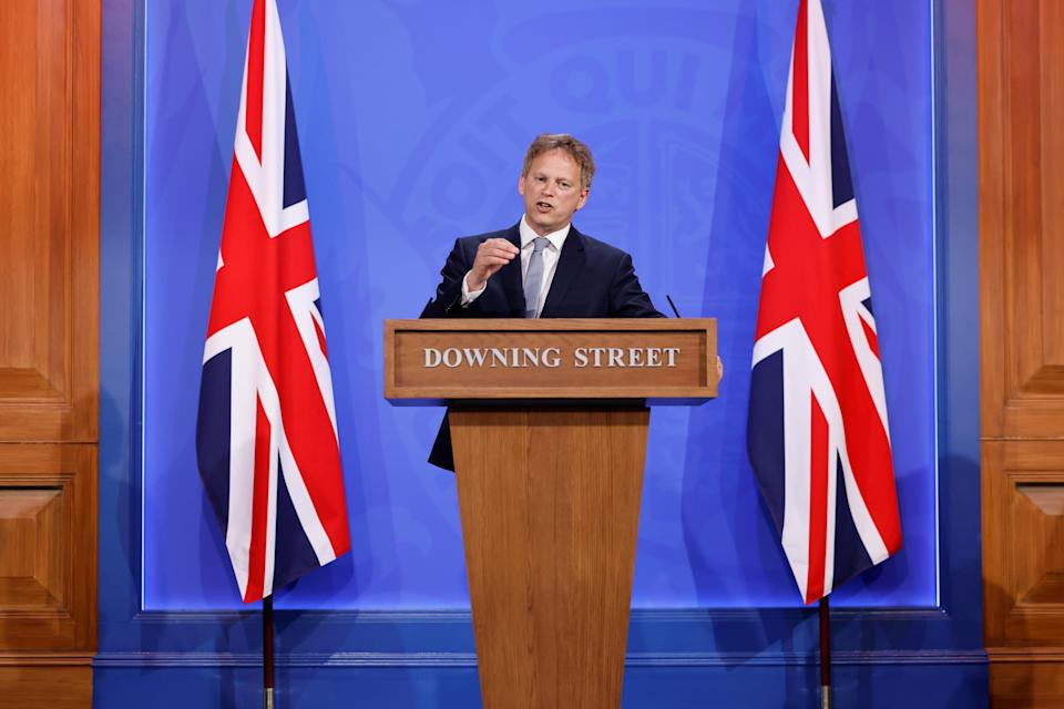 Transport Secretary Grant Shapps has found himself at the centre of a Westminster briefing war (Tolga Akmen/PA) (PA Wire)