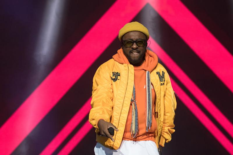 ARLINGTON, TEXAS - MAY 11: Rapper will.i.am of The Black Eyed Peas performs onstage during day two of KAABOO Texas at AT&T Stadium on May 11, 2019 in Arlington, Texas. (Photo by Rick Kern/WireImage)