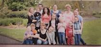 The family of Sonia Partridge, 35, died with coronavirus at University Hospital of North Tees on Tuesday with her wife and three of their 13 children by her side (Family handout/PA).