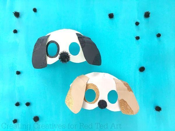 """<p>With the help of a paper plate, glitter, paint, and a pom-pom, you can help your kids create their own puppy dog mask. </p><p><strong><em>Get the tutorial at <a href=""""https://www.redtedart.com/3d-dog-mask-diy/"""" rel=""""nofollow noopener"""" target=""""_blank"""" data-ylk=""""slk:Red Ted Art"""" class=""""link rapid-noclick-resp"""">Red Ted Art</a>. </em></strong></p>"""
