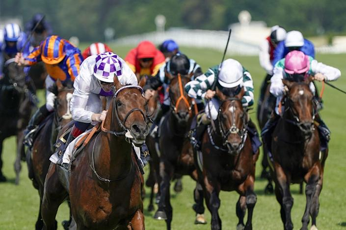 """<p>The royals are off to the races! Today kicks off five days of world class horse racing, <a href=""""https://www.townandcountrymag.com/leisure/sporting/a10212945/ascot-history-royal-enclosure/"""" rel=""""nofollow noopener"""" target=""""_blank"""" data-ylk=""""slk:royal spotting"""" class=""""link rapid-noclick-resp"""">royal spotting</a>, and some incredible fashion. After being closed to spectators last year, this year's Royal Ascot runs from June 15–19 and will have a limited attendance of 12,000 guests each day. Here, find the best photos from the 2021 Royal Ascot. </p>"""