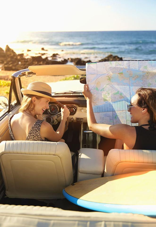 """<p>Sometimes the best undiscovered spots are right under your nose. Select a few nearby towns you've never been to before and go on a mini <a rel=""""nofollow"""" href=""""https://www.womansday.com/relationships/family-friends/g3130/sister-vacation-ideas/"""">day-long road trip</a>. Map out stops at cute antique shops or eateries along the way.</p><p></p>"""
