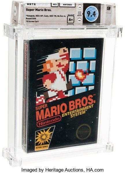A sealed copy of Super Mario Bros. sold for $114,000 in an auction.