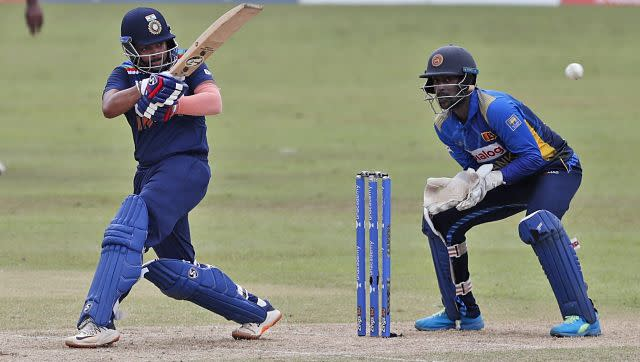 After winning the toss, India opted to bat first. Despite losing his opening partner Shikhar Dhawan early, Prithvi Shaw carried on and finished one short of fifty. AP