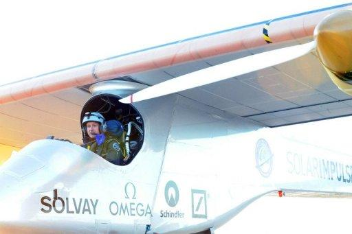 Solar Impulse is fitted with 12,000 solar cells feeding four electric motors driving propellors