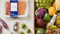 """<p><span>Blue Apron provides some of the </span>best meal kit delivery kits<span> of fresh and sustainably sourced ingredients in an ice-packed box. You'll receive easy-to-follow recipe instructions so you can put your meals together in a snap. It offers vegetarian, diabetes-friendly and Weight Watchers-approved kits.</span></p> <p><b>How Much Does Blue Apron Delivery Cost? </b><span>Starts at $8.99 per serving </span></p> <p><b>Is Blue Apron Delivery Worth It? </b><span>Blue Apron is worth it simply for the quality of the ingredients provided for the price.</span></p> <p><b>Who Is Blue Apron Best For?</b></p> <ul> <li><span>Best for sustainably conscious people who prefer responsibly grown or harvested food</span></li> <li><span>Best for diabetics who are on a strict diet</span></li> <li><span>Skip Blue Apron if you don't want to cook.</span></li> </ul> <p><b><i>Read More: </i></b><a href=""""https://www.gobankingrates.com/money/business/food-companies-changing-way-we-eat/?utm_campaign=1013201&utm_source=yahoo.com&utm_content=21"""" rel=""""nofollow noopener"""" target=""""_blank"""" data-ylk=""""slk:These 16 New Food Companies Are Changing the Way We Eat"""" class=""""link rapid-noclick-resp""""><b><i>These 16 New Food Companies Are Changing the Way We Eat</i></b></a></p>"""