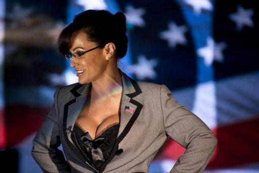 Lisa Ann, an adult film star and Sarah Palin tribute artist