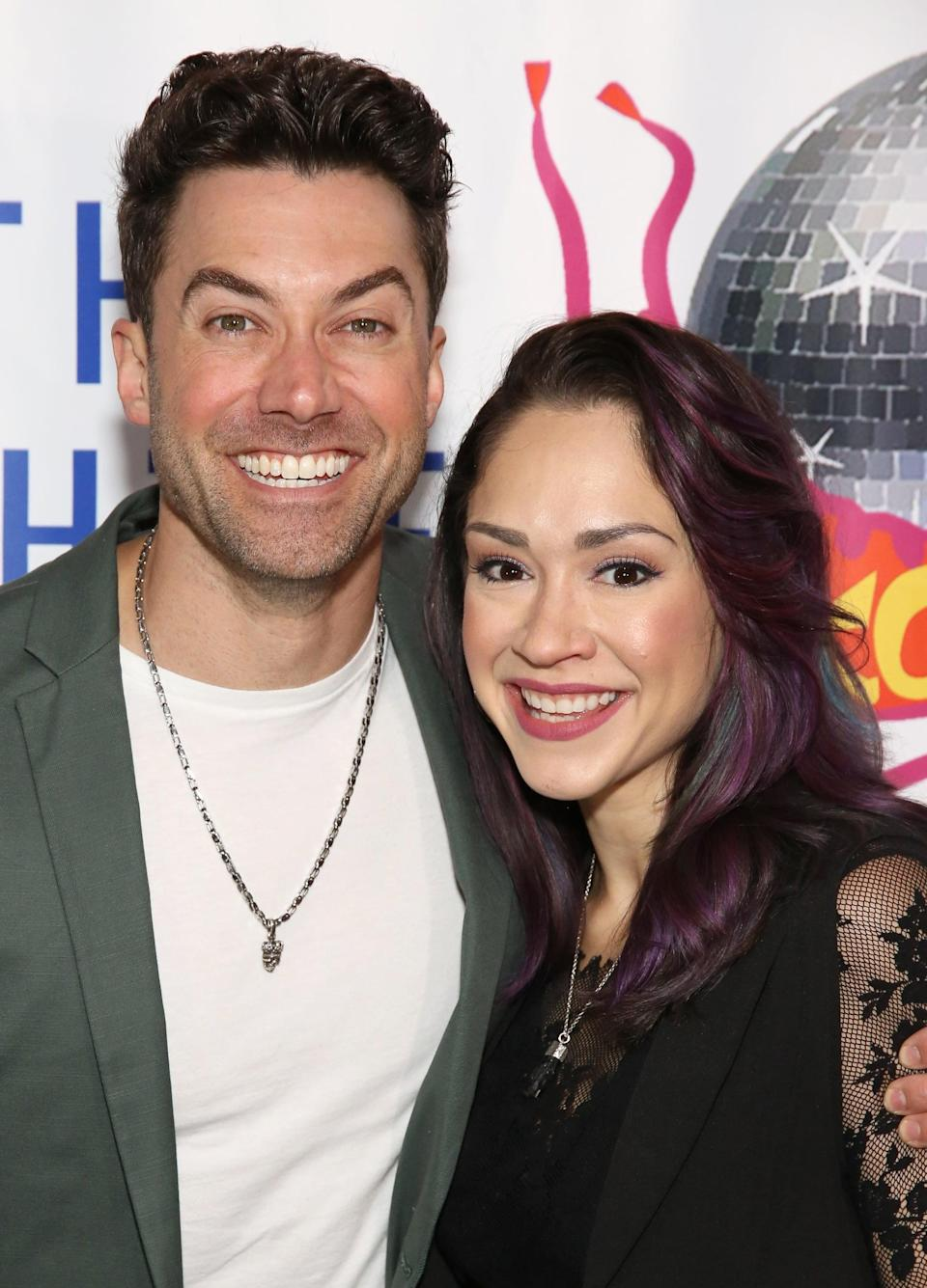 """<p>Both were contestants on <strong>American Idol</strong> (in different seasons, of course), but they didn't actually meet until 2010 when they were cast opposite each other in the Broadway revival of <strong>Hair</strong>. Young proposed live on an <strong>American Idol</strong> finale special in 2012, and they married the following year. In an interview with <strong>Playbill</strong>, the couple revealed that <a href=""""http://www.playbill.com/article/how-diane-paulus-put-two-actors-on-the-path-to-marriage"""" class=""""link rapid-noclick-resp"""" rel=""""nofollow noopener"""" target=""""_blank"""" data-ylk=""""slk:their first kiss was about as unromantic as it gets"""">their first kiss was about as unromantic as it gets</a>: """"On our very first day of rehearsal, [director Diane Paulus] walked up to us and said, 'You two are going to have to be very comfortable with each other very quickly, so I'm just going to need you to go ahead and kiss each other right now and just get it over with in front of everyone,'"""" DeGarmo said.</p>"""