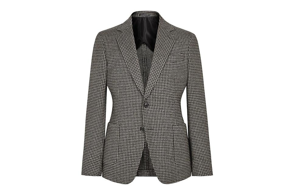 "$555, Reiss. <a href=""https://www.reiss.com/us/p/houndstooth-single-breasted-blazer-mens-pinot-in-mid-brown/?category_id=12691&gaEeList=MENS%20SALE"" rel=""nofollow noopener"" target=""_blank"" data-ylk=""slk:Get it now!"" class=""link rapid-noclick-resp"">Get it now!</a>"