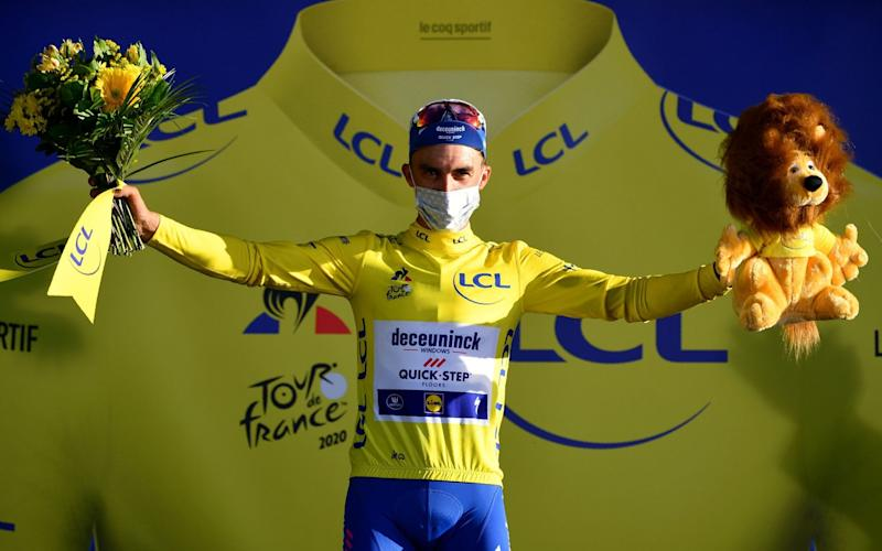 Julian Alaphilippe - Tour de France 2020, stage two – full results and standings: Julian Alaphilippe wins to take hold of leader's jersey - GETTY IMAGES
