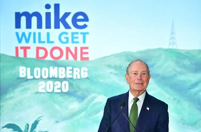 Presidential hopeful Michael Bloomberg addresses his supporters at the opening of a Los Angeles field office for his campaign on January 6, 2020 (AFP Photo/Frederic J. BROWN)