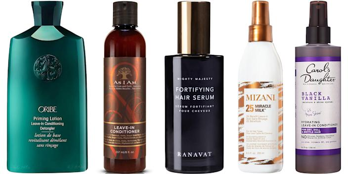 """<p>Co-washing, conditioning, or deep conditioning hair during a shower is one thing—but you're missing an entire piece of the puzzle if you aren't using <a href=""""https://www.harpersbazaar.com/beauty/hair/g5620/best-leave-in-conditioners/"""" rel=""""nofollow noopener"""" target=""""_blank"""" data-ylk=""""slk:leave-in conditioner"""" class=""""link rapid-noclick-resp"""">leave-in conditioner</a> afterwards, too. Sprays, serums, and creamy conditioners help natural hair retain moisture, wave away breakage, and add a bit of ease (and de-tangling) to your styling routine. Ahead, 11 editor-approved leave-in conditioners for curls, coils, and natural hair of any style. </p>"""