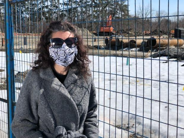 Anna Pires doesn't have a 'plan B' if her purchase-of-sale agreement for a stacked townhouse in Richmond Hill isn't honoured. She may lose the $80,000 she spent to buy the agreement on assignment if that happens.  (Richard Agecoutay/CBC - image credit)