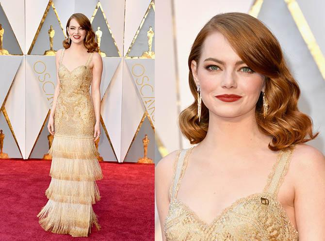 HOLLYWOOD, CA - FEBRUARY 26: Actor Emma Stone attends the 89th Annual Academy Awards at Hollywood & Highland Center on February 26, 2017 in Hollywood, California. (Photo by Steve Granitz/WireImage)