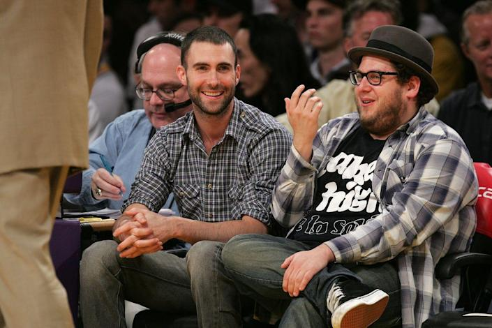 """<p>Best friends Adam Levine and Jonah Hill first came across each other as pre-teens after respective trips to the principal's office led them to meeting each other. """"Our dads met in the principal's office in junior high,"""" Hill <a href=""""https://www.eonline.com/news/547845/jonah-hill-talks-adam-levine-friendship-channing-tatum-s-junk-and-losing-the-oscar-to-jared-leto-listen"""" rel=""""nofollow noopener"""" target=""""_blank"""" data-ylk=""""slk:said"""" class=""""link rapid-noclick-resp"""">said</a> of the origins of his relationship with Levine. """"We were in carpool, we lived at each other's houses.""""</p><p>Over the years, the friends have remained close, celebrating each other's wins along the way. Hill credits that to the fact that they're still the same people that they were as kids. """"[Levine isn't] different now…that is a guy who is exactly who he ever was in a great way. And actually, I know a lot of famous people, and he's one that has not changed.""""</p>"""