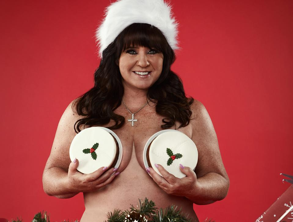 Coleen Nolan is helping raise cancer awareness on 'The Real Full Monty On Ice.' (ITV)