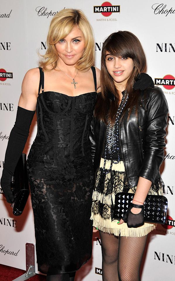 "<a href=""http://movies.yahoo.com/movie/contributor/1800038606"">Madonna</a> and daughter Lourdes Leon at the New York City screening of <a href=""http://movies.yahoo.com/movie/1810053986/info"">Nine</a> - 12/15/2009"