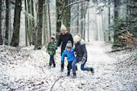 <p>Grab your boots, bundle up and take a walk in the woods. Getting out into the fresh air will lift your spirits, even in the cold weather. Make sure you have shoes with enough tread to keep you steady, and check the weather ahead of time for safety. </p>