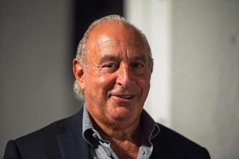 Chairman of Arcadia Group, Philip Green is seen in attendance before the start of the Topshop catwalk show for the Spring/Summer 2018 collection on the third day of The London Fashion Week Women's in London on September 17, 2017. / AFP PHOTO / CHRIS J RATCLIFFE (Photo credit should read CHRIS J RATCLIFFE/AFP/Getty Images)