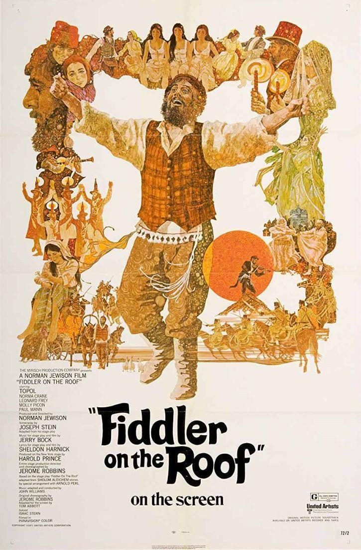 """<p>Clearly the 70s were the Golden Age of movie musicals and this story of a Jewish peasant trying to marry off his daughters is no exception. Songs like """"<a href=""""https://www.amazon.com/Matchmaker/dp/B001G5VHH8?tag=syn-yahoo-20&ascsubtag=%5Bartid%7C10072.g.27734413%5Bsrc%7Cyahoo-us"""" rel=""""nofollow noopener"""" target=""""_blank"""" data-ylk=""""slk:Matchmaker"""" class=""""link rapid-noclick-resp"""">Matchmaker</a>"""" and """"If I Were a Rich Man"""" will get stuck in your head for weeks after viewing.</p><p><a class=""""link rapid-noclick-resp"""" href=""""https://www.amazon.com/Fiddler-Roof-Topol/dp/B001EYK16Y/ref=sr_1_1?tag=syn-yahoo-20&ascsubtag=%5Bartid%7C10072.g.27734413%5Bsrc%7Cyahoo-us"""" rel=""""nofollow noopener"""" target=""""_blank"""" data-ylk=""""slk:WATCH NOW"""">WATCH NOW</a></p>"""