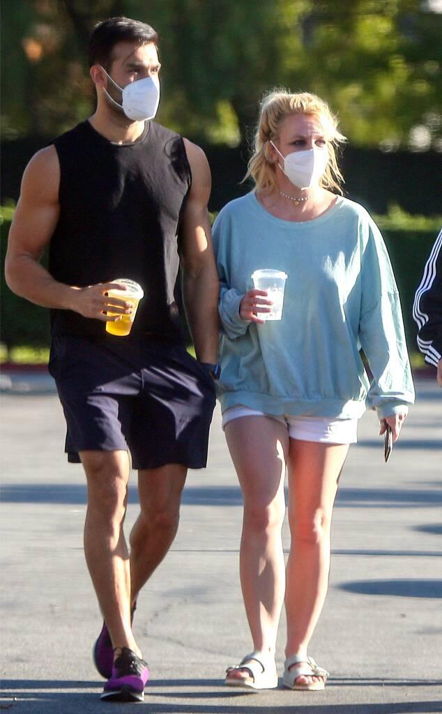 Britney Spears, Sam Asghari **DO NOT USE UNTIL 3:15pm PT MARCH 18**