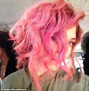 Coco Rocha and Nicola Roberts Jump on the Pink Hair Band Wagon this Weekend