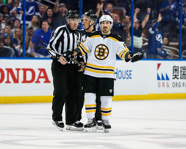 Marchand takes his talents to Twitter after the Bruins are eliminated from the playoffs. (Getty)