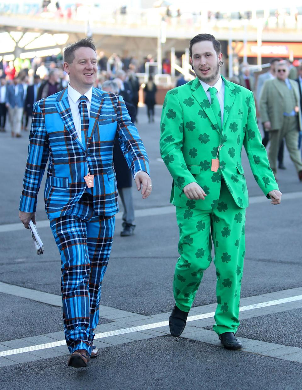 <p>It's not just the ladies going all out today [Photo: PA] </p>