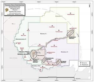 Map of Wahgnion Gold Project