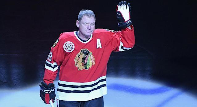 <p>Steve Larmer began his career with Chicago in 1982 and didn't miss a single game in 11 seasons with the Blackhawks — 884 straight to start his career. Larmer played two more seasons with the Rangers before retiring as part of the 1,000-point club in 1995. </p>