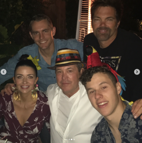 <p>Vergara did a great job creating a festive mood, which her guests clearly appreciated. Crazy hats — like the one her <em>Modern Family</em> co-star Nolan Gould is sporting in this pic — appeared to be the accessory of the evening. (Photo: Sofia Vergara via Instagram) </p>