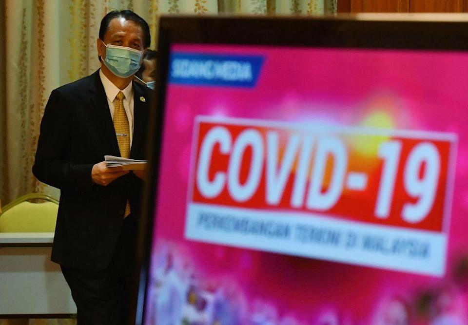 Director General of Health Tan Sri Dr Noor Hisham Abdullah at a daily press conference related to Covid-19 infection at the Ministry of Health December 23, 2020. — Bernama pic