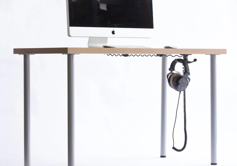 Keep your desk tidy and headphones handy with this genius hook. (Photo: Elevation Lab)