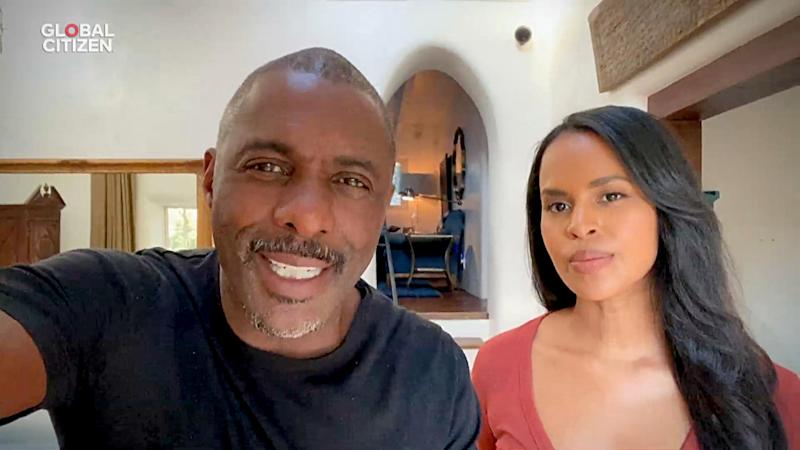 Idris Elba and Sabrina Dhowre Elba during Global Citizen's