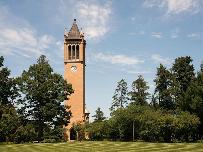 "The Bell Tower at Iowa State University <p class=""copyright"">iStock / Getty Images Plus</p>"