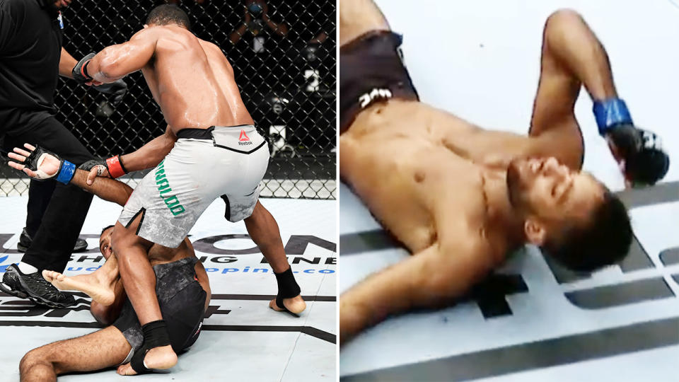 Francisco Trinaldo, pictured here knocking out Jai Herbert at UFC Fight Night.