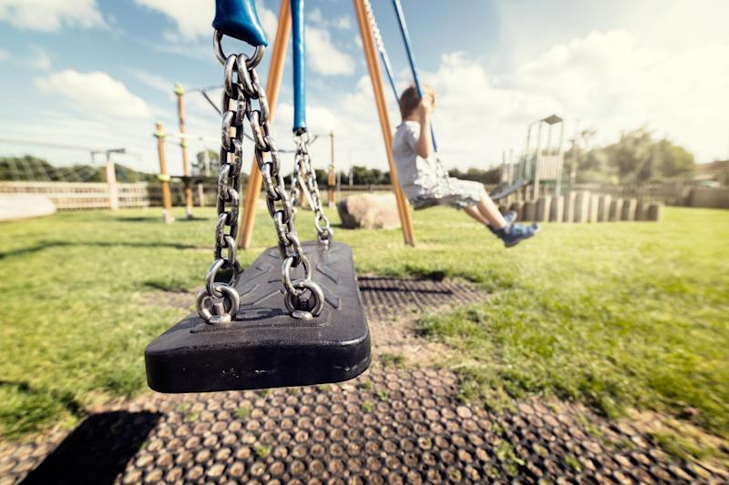 How young is too young for a child to go to the park alone? [Photo: Getty]