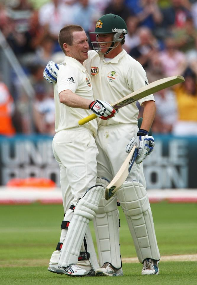 Brad Haddin (122) and Simon Katich (122) were the other two centurions as Australia sent England on a leather hunt.
