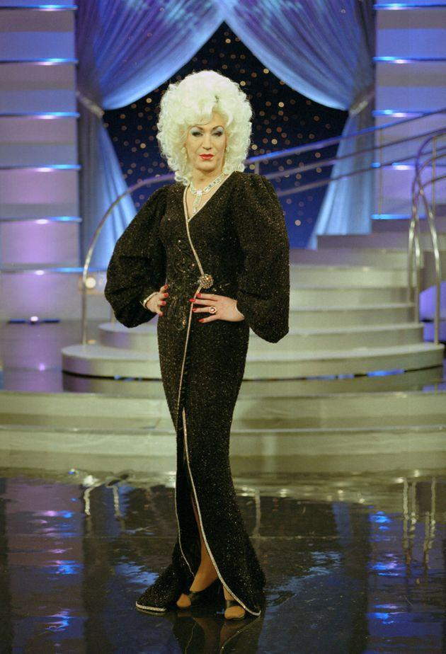 Lily Savage on the set of Blankety Blank (Photo: Fremantle Media/Shutterstock)