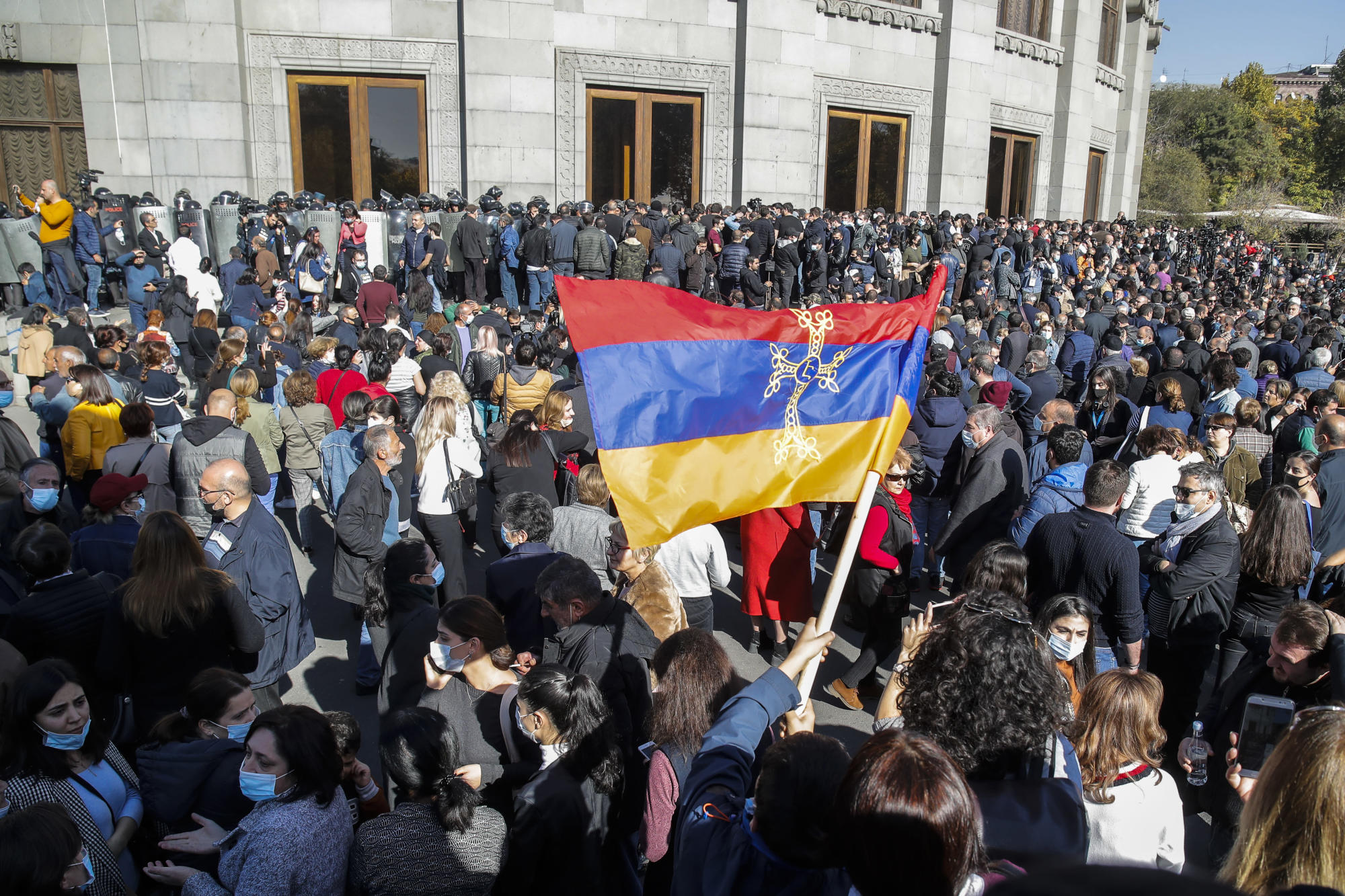 Thousands in Armenia protest Nagorno-Karabakh truce terms