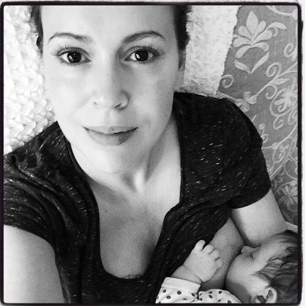 "<p>What a lovely breastfeeding selfie of Alyssa Milano and her daughter Elizabella. The actress posted this pic on her Instagram account with a quote for the caption. ""Ah, the joy of suckling! She lovingly watched the fishlike motions of the toothless mouth and she imagined that with her milk there flowed into her little son her deepest thoughts, concepts, and dreams,"" she wrote.<i> [Alyssa Milano/Instagram]</i> </p>"