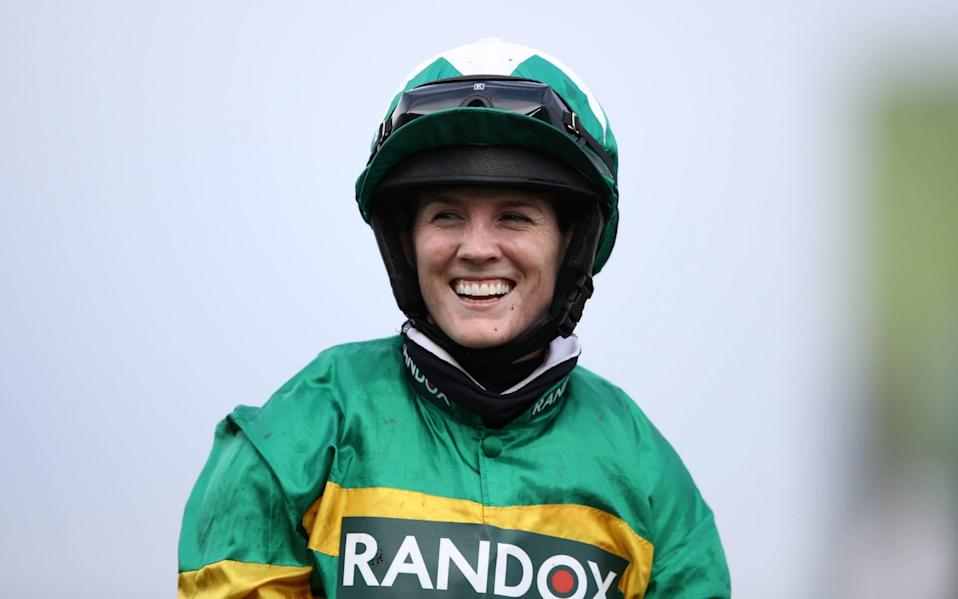 Rachael Blackmore made history by becoming the first female jockey to win the Grand National - PA