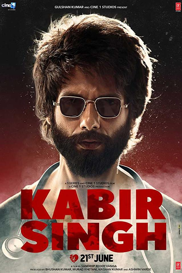 Directed by Sandeep Reddy Vanga, this is a Hindi remake of Vijay Deverakonda's Telugu blockbuster 'Arjun Reddy'. Shahid Kapoor plays Kabir Singh, a surgeon who spirals into self-destruction when his girlfriend played by Kiara Advani leaves him.