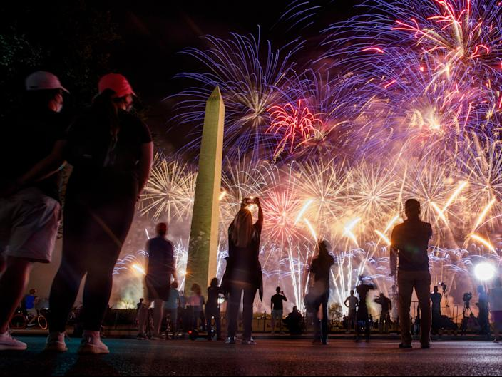<p>RNC 2020 convention fireworks on the National Mall</p> (EPA)