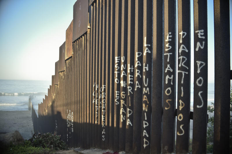 Picture of the fence that divides Mexico and the US, in Tijuana, Baja California State, Mexico, taken on September 17, 2014