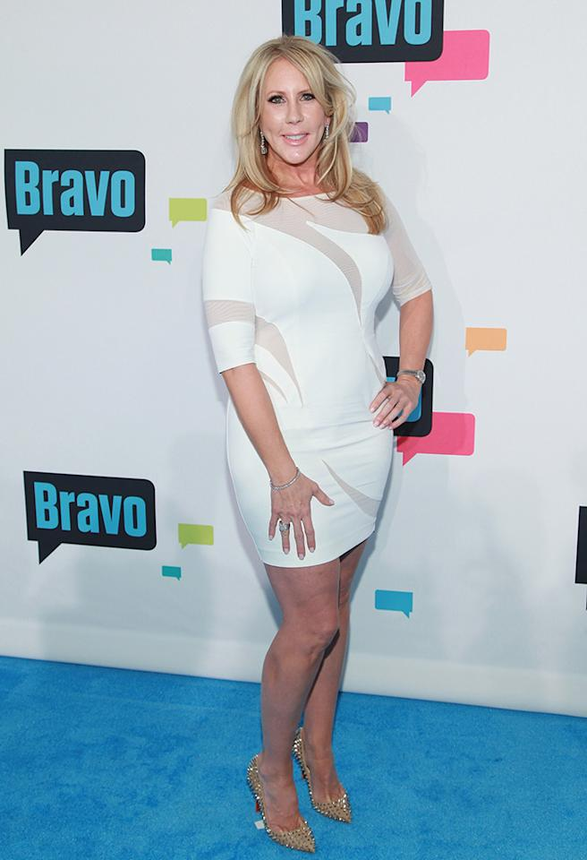 "NEW YORK, NY - APRIL 03:  TV personality Vicki Gunvalson of ""The Real Housewives of Orange County"" attends the 2013 Bravo Upfront at Pillars 37 Studios on April 3, 2013 in New York City.  (Photo by Taylor Hill/FilmMagic)"