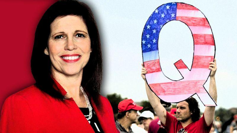 The QAnon supporter Jo Rae Perkins is running for the US senate. Source: AP