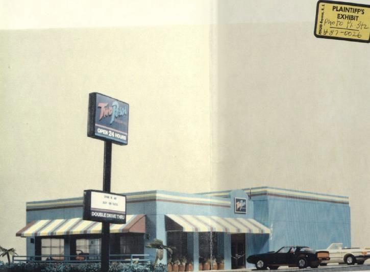 <p>A good, old-fashioned drive-inn that was established in Arlington, VA, in 1953, Tops eventually grew to 18 locations in the DC region. But, after merging with Gino's Hamburgers in 1967, all of the locations were sold or rebranded.</p>