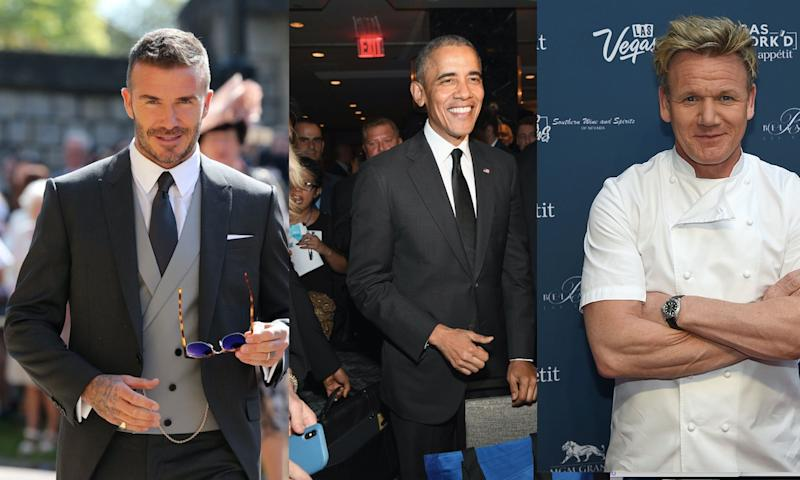 David Beckham, Barack Obama and Gordon Ramsay all made the list. (Getty Images)