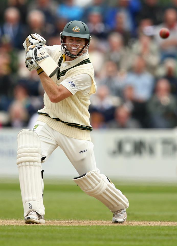 WORCESTER, ENGLAND - JULY 02: Chris Rogers of Australia bats during day one of the Tour Match between Worcestershire and Australia at New Road on July 2, 2013 in Worcester, England.  (Photo by Ryan Pierse/Getty Images)